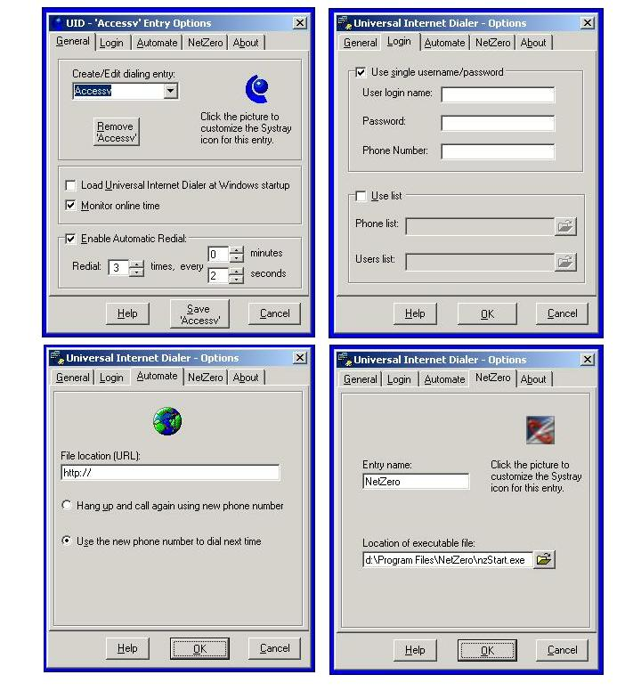Universal Internet Dialer Screen shot
